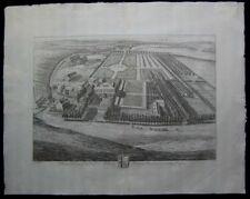 1707 Original Knuff Kip View of Folkington Manor William Thomas Sussex England