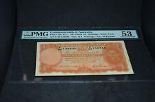 PMG Graded Commonwealth of Australia p25b ND 10 Shillings AU53