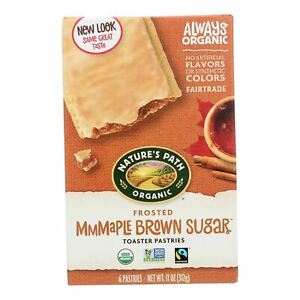 Nature's Path Organic Frosted Toaster Pastries - Mmmaple Brown Sugar - Case Of 1
