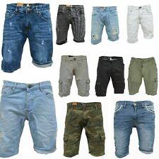 .iProfash Herren Bermuda Jeans Shorts Stretch Denim Kurze Capri Hose Sommer