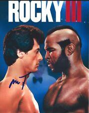 Mr.T Firmato Rocky Balboa' Sylvester Stallone 8X10 Foto - Esatto Prova - A-Team