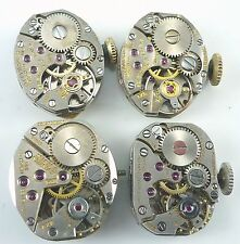 Lot of 4 Ladies Wittnauer Wristwatch Movements For Parts / Repair.