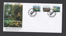New Zealand 2001 FDC Scenic . 100 Years of Tourism self adhesive set stamps