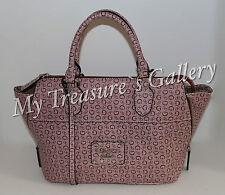 NEW Guess Detroit Satchel Handbag Purse Burgundy NWT