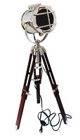 Industrial DESIGNER Chrome Nautical Spot Light Tripod Floor Lamp ITEM GIFT