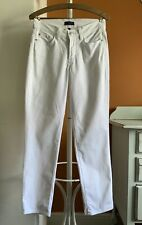 NYDJ White Jeans Straight Leg Soft Cotton Stretch Size 2 UK 6