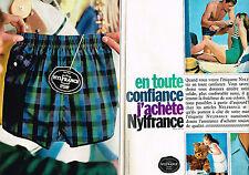 PUBLICITE ADVERTISING 114  1963  NYLFRANCE  sous vetements maillots de bain ( 2p