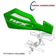 RFX PRO SERIES MX HAND GUARDS GREEN / WHITE KAWASAKI KX65 KX80 KX85 KX100