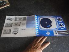 Ancien Catalogue TELFUNKEN Magnétophone à Bande Tourne Disque Ancienne Radio