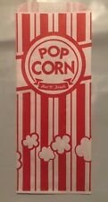 "100 Popcorn Bags 1 oz Carnival King 3 1/2"" x 2 1/4"" x 8 1/4""  Free Ship USA Only"