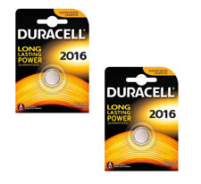 2 x DURACELL 2016 BATTERY LITHIUM 3V BUTTON COIN BATTERIES CR2016 ECR2016 DL2016
