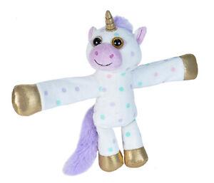 NEW PLUSH SOFT TOY Wild Republic 21680 Huggers Polka Dot Unicorn Cuddlekins 20cm