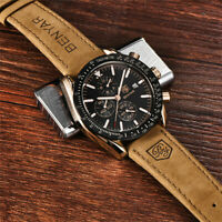 BENYAR Classic Fashion Elegant Chronograph Watch Casual Sport Leather Band Mens
