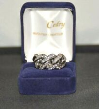 Bague Chaine or blanc et diamants./  ring with chain in 18k white gold  diamonds
