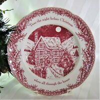 4x Johnson Brothers Twas the Night Before Christmas DINNER Plates Scalloped 10.5