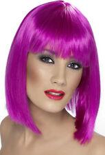Glamour Parrucca da festa neon viola NUOVO - CARNEVALE PARRUCCA CAPELLI