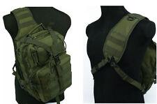 Molle Tactical Carry Shoulder Bag Hunting Sling Bag Hiking Backpack Green