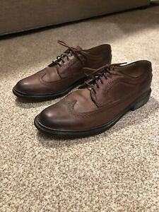 Frye James Longwing Wingtip Brown Leather Derby Shoes Mens Size 11.5
