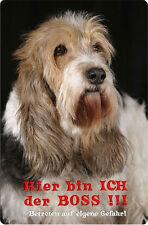 BASSET GRIFFON VENDEEN - A4 Metall Warnschild Hundeschild Alu SCHILD - BGV 01 T7