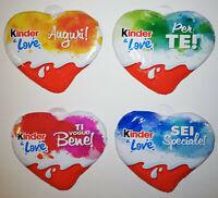 KINDER & LOVE - SERIE COMPLETA 4 CUORI CON DEDICA FERRERO ITALIA 2020