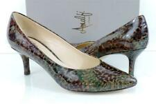 AMALFI by Rangoni Pace Pumps Heels Brown Imperial Patent Size 7.5 Made in Italy