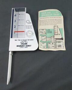 VINTAGE ADVERTISING RAIN & Sprinkler GAUGE RECORDER floating indicator
