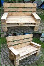 Divano in legno 120x50 con Pallet Bancali EUR  EPAL con braccioli
