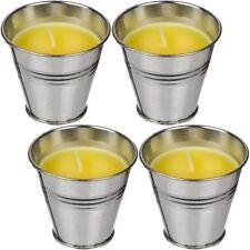 4 Stück Anti-Insekten-Kerzen Citronella-Mücken-Kerze im Zink-Topf ca. 6 x 5,8 cm