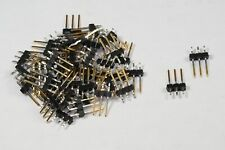Lot of 50 22-28-5034 Molex Unshrouded Connector Header 3 Pos 2.54mm Kinked Pin