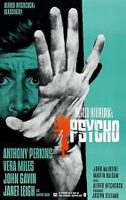 """Psycho movie poster : 11"""" x 17"""" : Anthony Perkins (German style)"""