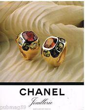 Publicité Advertising 1994 Les Bijoux Chanel Joaillerie