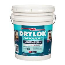 DRYLOK Concrete Waterproofer/Sealer 5 Gal. Low-Odor Latex-Based Acrylic White