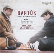 Bela Bartok - Complete works for violin vol. 2 (Zalai/Oistrakh) CD