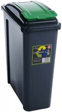 VFM Recycling Bin With Lid 25l Green Sby28519