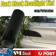 30cm x 100cm Dark Black Headlight Tint Fog Light Car Smoke Film Overlay Sticker