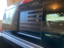 2009 - 2020 Dodge Ram Back Middle Window American Flag Decal Sticker Matt Black