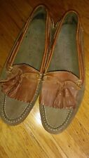 Mens COLE HAAN COUNTRY Kiltie Tassel Fringe Loafers Brown Leather Size 8 E