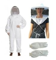 OZ APIARIST BEEKEEPING SUIT HEAVY DUTY  WITH TWO VEILS & LEATHER VENTED GLOVES