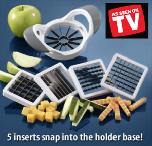 Deluxe Multi Slicer W/ 5 Interchangeable Attachments + Apple Corer AS SEEN ON TV