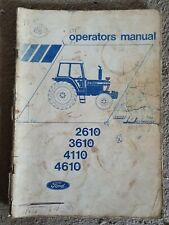FORD 2610 3610 4110 4610 TRACTOR OPERATORS MANUAL
