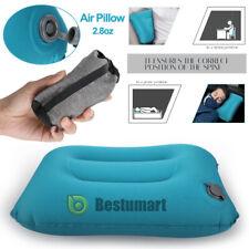 Portable Air Travel Pillow Airplane Neck Head Cushion Camping Hiking Nap Rest