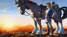 The Legend Of Zelda Breath Of The Wild Silk Poster/Wallpaper 24 X 13 inches
