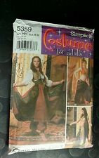 Simplicity 5359 Belly Dancer Costume Skirt Top Pants Choli Belt Size 6 8 12 uc