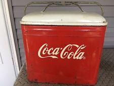 Rare Vintage Metal Coca Cola Ice Box Cooler