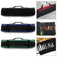 Chef Knife Roll Bag+22Pockets Knife Storage Case Kitchen Portable Storage