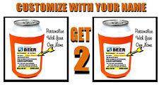 2 TWO Prescription Bottle BEER Soda Can Cooler COZY Coosie  KOOSIE