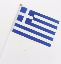 Greek Held Stick FLAGS Hand Table Flag Festivals Country Greece Olympic 5PCS