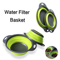 Round Silicone Water Basket Collapsible Kitchen Folding Strainer Washing