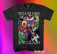 New Marvel Chillin like a Villain Vintage Thanos Mens T-Shirt