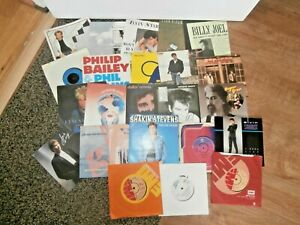 "#4~MIXED 7"" SINGLE Record BUNDLE~1970's/80's~25 SINGLES~FREE UK POST"